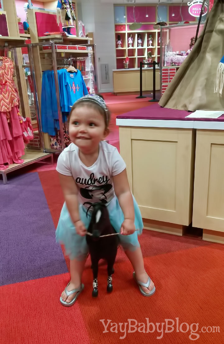 Jax is obsessed with horses.  She almost passed up getting a doll for this horse. I talked her out of it. Next time, Jax. I promise.