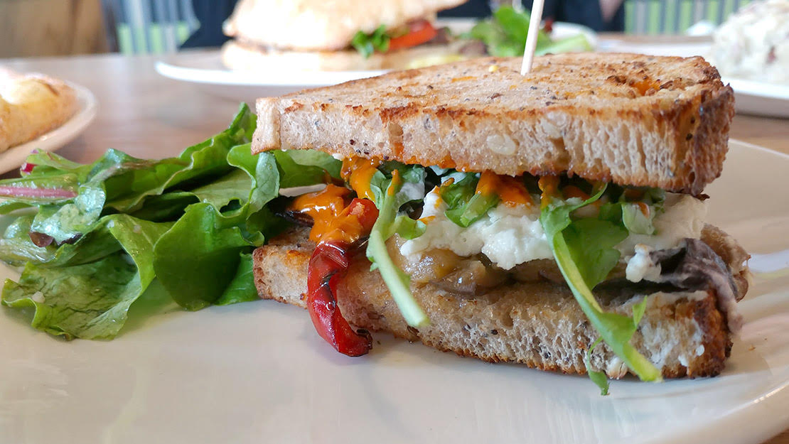 Eggplant & Goat Cheese Sandwich