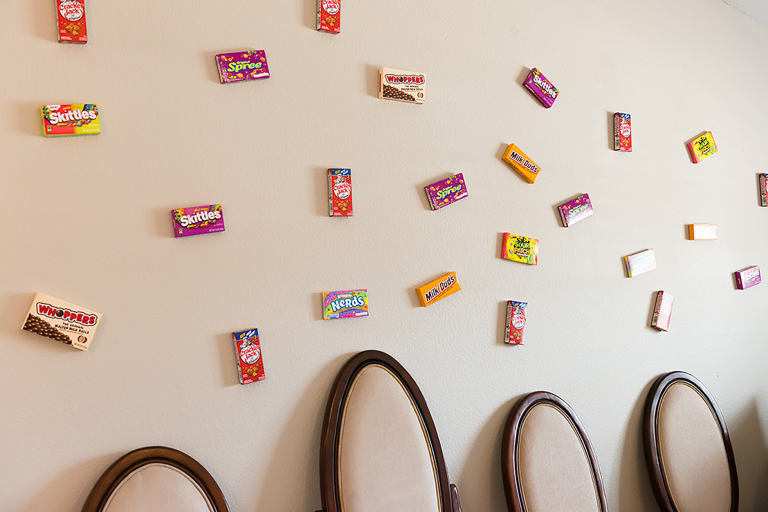 candy on walls