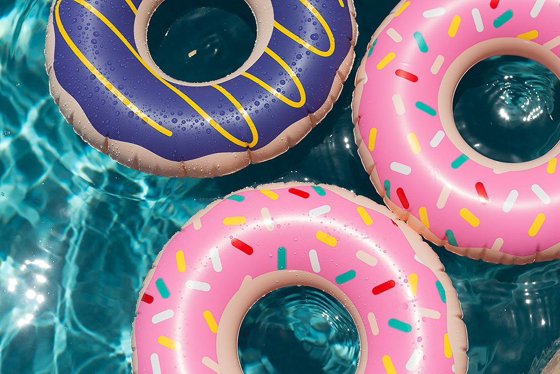 OTC inflatable donut rings