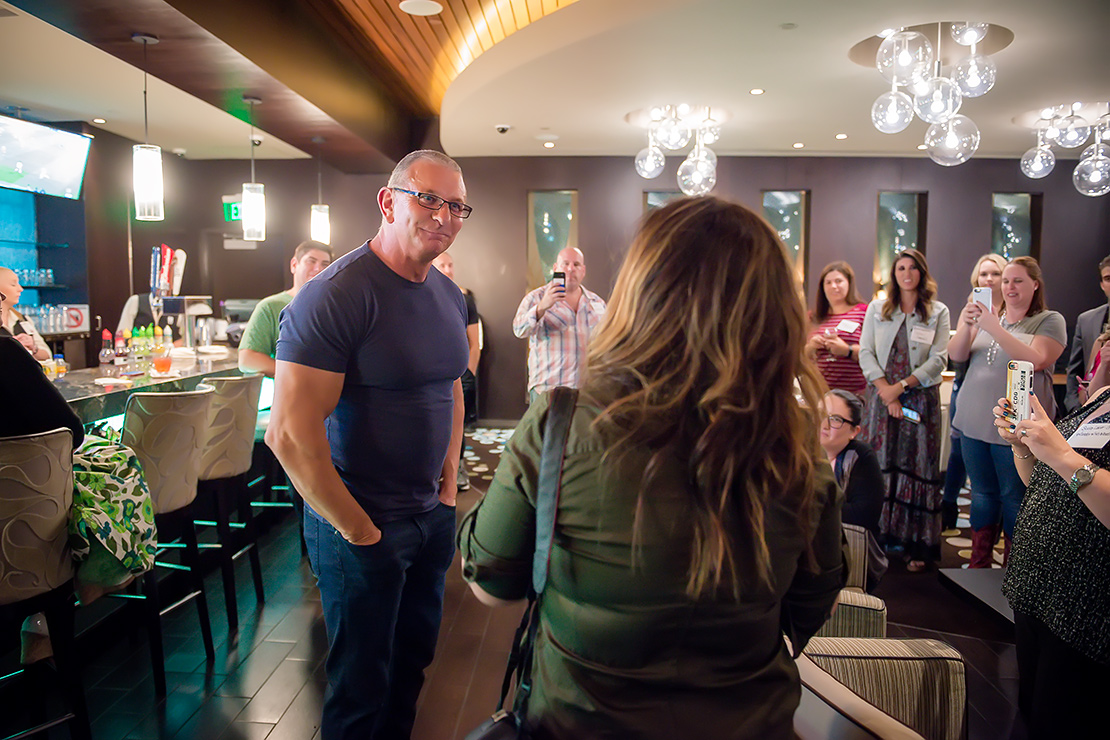 Chatting Robert Irvine