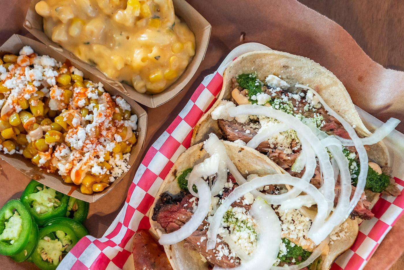 tacos and sausage